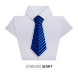 Origami shirt with tie Stock Photography