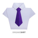 Origami shirt with tie Royalty Free Stock Images