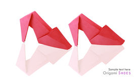 Origami shoes Stock Images