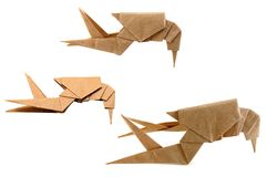 Origami shrimp Stock Images