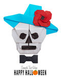 Origami skull in hat Royalty Free Stock Photos