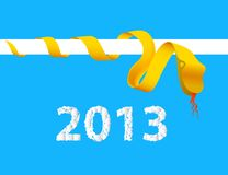 Origami Snake, 2013 Year, vector illustration Royalty Free Stock Photo