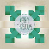 Origami snowflake with merry christmas text Stock Image