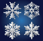 Origami snowflakes Stock Images