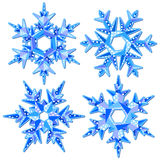 Origami snowflakes Royalty Free Stock Photo