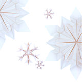 Origami snowflakes Stock Image
