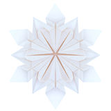 Origami snowflakes Royalty Free Stock Photos