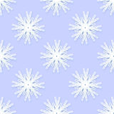 Origami snowflakes seamless pattern on blue background. Stock Images
