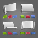 Origami speech banner Royalty Free Stock Photos