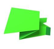 Origami speech bubble Stock Photos