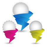 Origami Speech bubble or chat boxes Stock Images