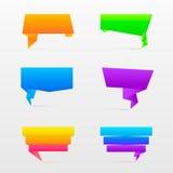 Origami speech bubble. Royalty Free Stock Photos