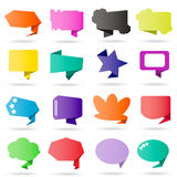 Origami speech bubble Stock Photography