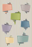 Origami speech bubbles Stock Images
