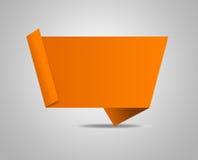 Origami speechbubble Stockfotografie