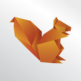 Origami squirrel. Big origami squirrel colorful illustration Stock Photography