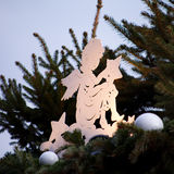 Origami star christmas angel Stock Images