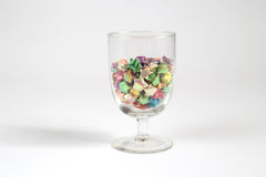 Origami star. Colourful origami stars in a glass Stock Image