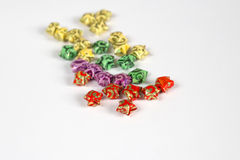 Origami star. Colourful origami stars for isolated stock photos