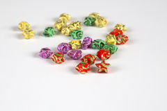 Origami star. Colourful origami stars for isolated Royalty Free Stock Photography