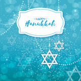 Origami Star of David. Happy Hanukkah. Stock Image