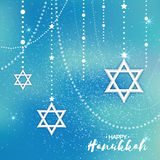 Origami Star of David. Happy Hanukkah. Royalty Free Stock Photo