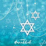 Origami Star of David. Happy Hanukkah. Stock Photo