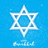 Origami Star of David. Happy Hanukkah. Stock Images