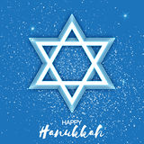 Origami Star of David. Happy Hanukkah. Stock Photos