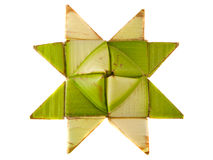 Origami star isolated Stock Image
