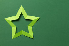 Origami star Royalty Free Stock Photo