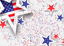 Origami Stars and stripes on grey background Royalty Free Stock Photos