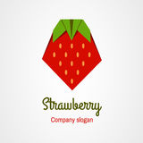 Origami strawberry Stock Image