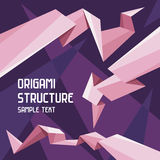 Origami Structure Concept. Vector images in origami style for design presentations, brochures, advertising layout, infographics and other designer products Royalty Free Stock Photo