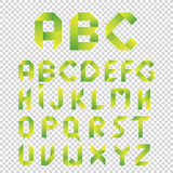 Origami style alphabet, vector letters type set. Green  Eco Font.  Design Symbols Stock Photography