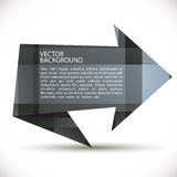 Origami style arrow shaped vector background. Royalty Free Stock Photography