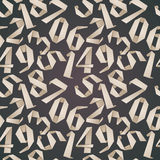 Origami style numbers seamless background. Origami style numbers seamless background, monochrome vector illustration Royalty Free Stock Photo