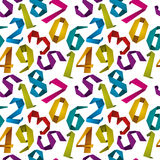 Origami style numbers seamless background. Stock Photography