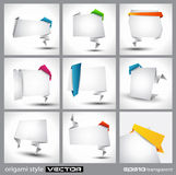 Origami style paper panel for advertising Royalty Free Stock Photo