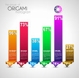 Origami style ranking paper. Royalty Free Stock Image