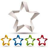 Origami style star icon. Stock Image