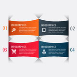 Origami style step up number options banner Stock Photography
