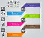 Origami style step up options banner Stock Image