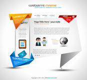 Origami style website UI Ux template for a modern look Royalty Free Stock Photo