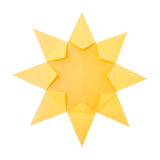 Origami sun Stock Photography