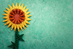 Origami sunflower Royalty Free Stock Photography