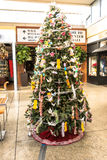 Origami sur l'arbre de Noël, San Francisco Images stock