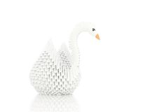 Origami swan. On white background Stock Photo