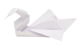 Origami swan Royalty Free Stock Photo