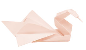 Origami swan Royalty Free Stock Image